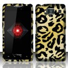 Hard Plastic Snap On Case Cover for Motorola Droid RAZR HD XT926 (Verizon) - Golden Cheetah