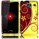 Hard Plastic Snap On Case Cover for Motorola Droid RAZR HD XT926 (Verizon) - Elegance Swirl