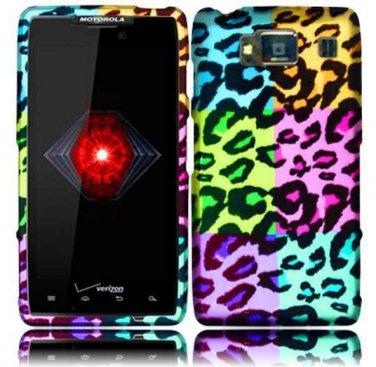 Hard Plastic Snap On Case Cover for Motorola Droid RAZR HD XT926 (Verizon) - Colorful Leopard