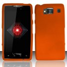 Hard Plastic Snap On Case Cover for Motorola Droid RAZR HD XT926 (Verizon) - Orange