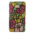 Hard Plastic Snap On Bling Case Cover for Motorola Droid RAZR HD XT926 (Verizon) - Hawaiian Flower