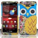 Hard Plastic Snap On Case Cover Motorola Droid RAZR M 4G LTE XT907 (Verizon) - Yellow Owl