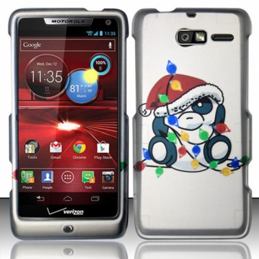 Hard Plastic Snap On Case Cover Motorola Droid RAZR M 4G LTE XT907 (Verizon) - Christmas Bear
