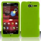 Soft Silicone Rubber Skin Case Cover for Motorola Droid RAZR M 4G LTE XT907 (Verizon) – Neon Green