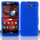 Soft Silicone Rubber Skin Case Cover for Motorola Droid RAZR M 4G LTE XT907 (Verizon) – Blue