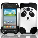 Hard Plastic Snap On Case Cover for Samsung Galaxy Rugby Pro i547 (AT&T) – Panda Bear