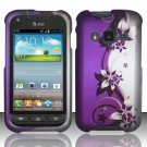 Hard Plastic Snap On Case Cover for Samsung Galaxy Rugby Pro i547 (AT&T) – Purple Vines