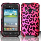 Hard Plastic Snap On Case Cover for Samsung Galaxy Rugby Pro i547 (AT&T) – Hot Pink Leopard