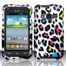 Hard Plastic Snap On Case Cover for Samsung Galaxy Rugby Pro i547 (AT&T) – Rainbow Leopard