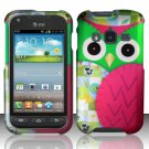 Hard Plastic Snap On Case Cover for Samsung Galaxy Rugby Pro i547 (AT&T) – Starry Green Owl