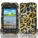 Hard Plastic Snap On Case Cover for Samsung Galaxy Rugby Pro i547 (AT&T) – Golden Cheetah