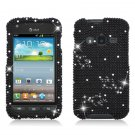 Hard Plastic Snap On Bling Case Cover for Samsung Galaxy Rugby Pro i547 (AT&T) – Black Diamond