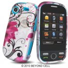 Hard Plastic Design Cover Case for Samsung Messager Touch R630 - Pink Lotus