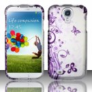 Hard Plastic Rubberized Snap On Case Cover for Samsung Galaxy S4 IV i9500 – Vines & Butterfly