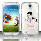 Hard Plastic Rubberized Snap On Case Cover for Samsung Galaxy S4 IV i9500 – If You Know!!!