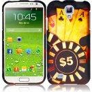 Hard Plastic Rubberized Snap On Case Cover for Samsung Galaxy S4 IV i9500 – Ace Poker
