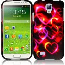 Hard Plastic Rubberized Snap On Case Cover for Samsung Galaxy S4 IV i9500 – Rainbow Heart