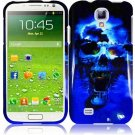 Hard Plastic Snap On Design Case Cover for Samsung Galaxy S4 IV i9500  Blue Skull