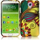 Hard Plastic Rubberized Snap On Case Cover for Samsung Galaxy S4 IV i9500 – Antique Flower