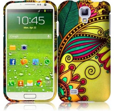 Hard Plastic Rubberized Snap On Case Cover for Samsung Galaxy S4 IV i9500 � Antique Flower