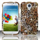 Hard Plastic Snap On Bling Case Cover for Samsung Galaxy S4 IV i9500 – Golden Cheetah