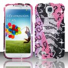 Hard Plastic Snap On Bling Case Cover for Samsung Galaxy S4 IV i9500 – Pink Safari