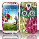Hard Plastic Snap On Bling Case Cover for Samsung Galaxy S4 IV i9500 – Starry Green Owl