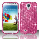 Hard Plastic Snap On Bling Case Cover for Samsung Galaxy S4 IV i9500 – Solid Pink