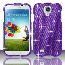 Hard Plastic Snap On Bling Case Cover for Samsung Galaxy S4 IV i9500 – Solid Purple