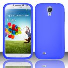 Soft Silicone Rubber Skin Case Cover for Samsung Galaxy S4 IV i9500 – Blue