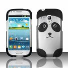 Hard Plastic Snap On Matte Case Cover for Samsung Galaxy Mini i8190 (AT&T) – Cute Panda Bear