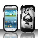 Hard Plastic Snap On Matte Case Cover for Samsung Galaxy Mini i8190 (AT&T) – Ace Spade Skull