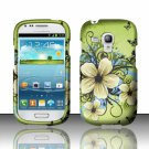Hard Plastic Snap On Matte Case Cover for Samsung Galaxy Mini i8190 (AT&T) – Flowers & Butterfly