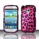 Hard Plastic Snap On Matte Case Cover for Samsung Galaxy Mini i8190 (AT&T) – Hot Pink Leopard