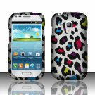 Hard Plastic Snap On Matte Case Cover for Samsung Galaxy Mini i8190 (AT&T) – Rainbow Leopard