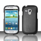 Hard Plastic Snap On Matte Case Cover for Samsung Galaxy Mini i8190 (AT&T) – Carbon Fiber