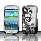 Hard Plastic Snap On Matte Case Cover for Samsung Galaxy Mini i8190 (AT&T) – Black Vines
