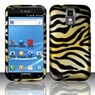 Hard Plastic Rubber Feel Design Case for Samsung Galaxy S II/Hercules - Golden Zebra