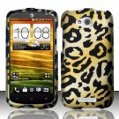 Hard Plastic Snap On Rubberized Design Case Cover for HTC One VX (AT&T) – Golden Cheetah