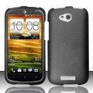 Hard Plastic Snap On Rubberized Design Case Cover for HTC One VX (AT&T) - Carbon Fiber