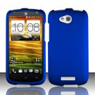 Hard Plastic Snap On Rubberized Case Cover for HTC One VX (AT&T) - Blue