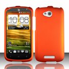 Hard Plastic Snap On Rubberized Case Cover for HTC One VX (AT&T) - Orange