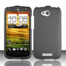 Hard Plastic Snap On Rubberized Case Cover for HTC One VX (AT&T) - Gray