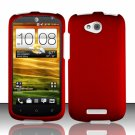 Hard Plastic Snap On Rubberized Case Cover for HTC One VX (AT&T) - Red