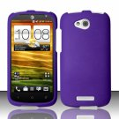 Hard Plastic Snap On Rubberized Case Cover for HTC One VX (AT&T) - Purple