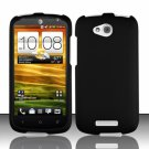 Hard Plastic Snap On Rubberized Case Cover for HTC One VX (AT&T) - Black