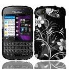 Hard Plastic Snap On Case Cover for Blackberry Q10 (AT&T/Sprint/T-Mobile/Verizon) - Midnight Garden