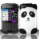 Hard Plastic Snap On Case Cover for Blackberry Q10 (AT&T/Sprint/T-Mobile/Verizon) - Panda Bear