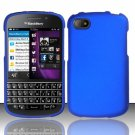 Hard Plastic Snap On Case Cover Blackberry Q10 (AT&T/Sprint/T-Mobile/Verizon) - Blue
