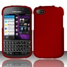 Hard Plastic Snap On Case Cover Blackberry Q10 (AT&T/Sprint/T-Mobile/Verizon) - Red